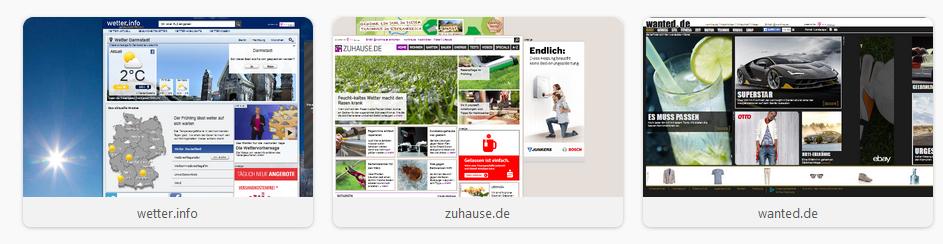 Browser 7 Kacheln