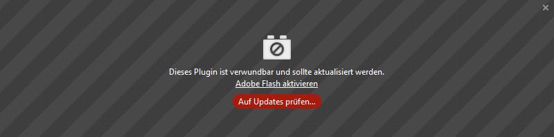 Adobe Flash Plug-Ins Browser 7 aktivieren