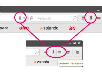Wie speichere ich Favoriten in der neuen Version des Browsers 7?